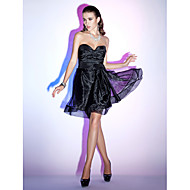 Cocktail Party/Holiday Dress - Black Plus Sizes A-line/Princess Strapless/Sweetheart Knee-length Organza