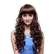capless longa alto grau de qualidade sintético marrom peruca curly encantador