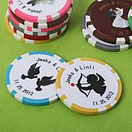 personalizada Vegas Poker temática de chips favor de la boda (juego de 50)