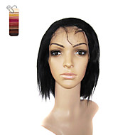 Full Lace Short Silky Straight 100% India Reme Hair Wig Multiple Colors To Choose