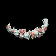 Women's / Flower Girl's Foam Headpiece-Wedding / Special Occasion Flowers