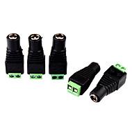 5pcs courant continu jack femelle à 2 vis conducteur de descente connecteur pour contrôleur de lumière LED