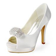 Women's Wedding Shoes Heels/Peep Toe Heels Wedding Black/Pink/Red/Ivory/White/Silver/Gold
