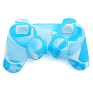 Protective Dual-Color Silicone Case for PS3 Controller (Blue and White)