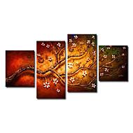 Kézzel festett Virágos / Botanikus Négy elem Vászon Hang festett olajfestmény For lakberendezési
