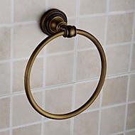"Towel Ring Antique Brass Wall Mounted 180 x 60 x 185mm (7.08 x 2.36 x 7.28"") Brass Antique"