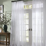 zwei Panele Window Treatment Modern , Solide Schlafzimmer Polyester Stoff Gardinen Shades Haus Dekoration For Fenster