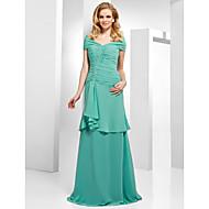 Formal Evening Dress - Jade Plus Sizes A-line/Princess Off-the-shoulder Floor-length Chiffon