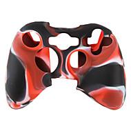 capa de silicone protetora de duas cores para Xbox 360 (preto e vermelho)