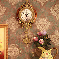 "32"" Retro Style Vintage Wall Clock with Pendulum"