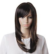 шапки высококачественных синтетических коричневый прямой парик волос