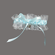 Garter Satin / Organza Sweetheart(343) Blå