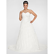 Lanting Bride® Trapèze / Princesse Petites Tailles / Grandes Tailles Robe de Mariage - Elégant & Luxueux Transparent Traîne Chapelle