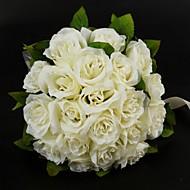"""Bryllupsblomster Rund Roser Buketter Bryllup Sateng Bomull Elfenben 11.02""""(Ca. 28cm)"""