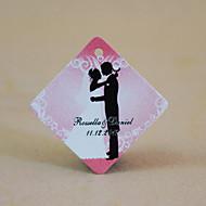 gepersonaliseerde ruit gunst tag - bruiloft romance (set van 30)