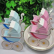 Boîtes à cadeaux Faveurs et cadeaux de fête Thème de jardin/Thème classique Other Non personnalisé Papier durci Rose/Bleu