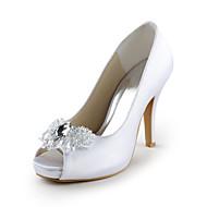 Women's Shoes Peep Toe Stiletto Heel Satin Pumps Wedding Shoes More Colors available