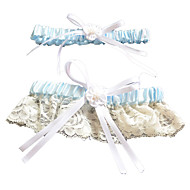2-Piece Lace/Polyester With Bowknot Wedding Garters
