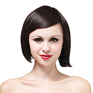 Mono Top High Quality Human Hair Short Brown Wave Hair Wig