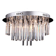 Flush Mount ,  Modern/Contemporary Chrome Feature for Crystal Metal Living Room Bedroom Study Room/Office