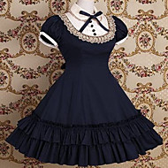 Kort Ermet knelang Cotton School Lolita Dress