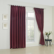 Two Panels Modern Solid Burgundy Living Room Rayon Panel Curtains Drapes