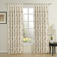 Two Panel Modern Beige Novelty Eco-friendly Window Curtains Drapes