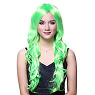 korkiton pitkän aallon vihreä korkealaatuisia peruukki