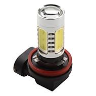 Ampoule LED pour Feux de Voiture à Forte Lumière Blanche (H11 - 7.5W - 600LM - 7000 à 8000K - DC 12V)