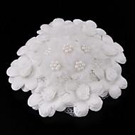 Nydelig Tulle Med Imitation Pearl damehatter