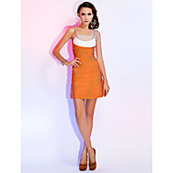Sheath/Column Spaghetti Straps Sleeveless Short/Mini Bandage Dress