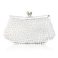 Elegant Silk with Pearls Evening Handbag/Clutches