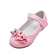 Kids' Leatherette Flat Heel Closed Toe With Satin Flower Party/Evening Shoes(More Colors)