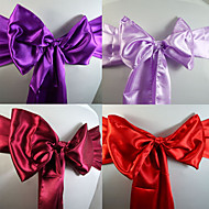 "Wedding Décor 6.3"" Beautiful Sation Chair Ribbon Sash – Set of 6 (More Colors)"
