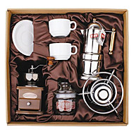 Coffee Series Boxed Gift (Moka & Siphon Pot, Grinder, Cups)T-007