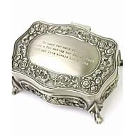 gepersonaliseerde prachtige decoratief patroon tinlegering vrouwen sieraden doos