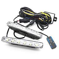 Euro Style 2 x 6W High Power 6-LED Daytime Running Lights