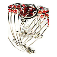 Lovely Alloy with Beadings Quartz Dress Watch(More Colors)