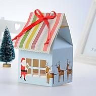 Weihnachten Party-Geschirr-12Stück / Set Kuchen-Boxen Schleidenbänder Kartonpapier Klassisches Thema / Märchen Thema Quader