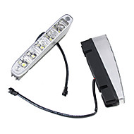 2 x 5 LED High Power 5w 12v 24v vit varselljus