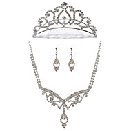 Alloy With Rhinestone Women's Jewelry Set Including Necklace,Earrings,Tiara