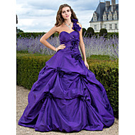 Prom/Formal Evening/Quinceanera/Sweet 16 Dress - Regency Plus Sizes Ball Gown/A-line/Princess One Shoulder/Sweetheart Floor-length Taffeta