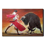 Corrida peint à la main peinture à l'huile animale 1211-AN0055