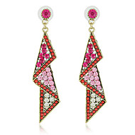 Pretty Alloy with Beads and Crystals Irregular Chandelier Earrings(More Colors)