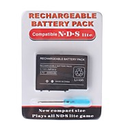 paquete de baterías recargables para Nintendo DS Lite + destornillador (2000mAh)