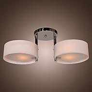 Max 60W Moderno / Contemporáneo Cromo Metal Lámparas Araña / Montage de Flujo Sala de estar / Dormitorio / Comedor / Vestíbulo