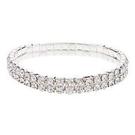 Narrow Silver Plated Crystal  Bracelet
