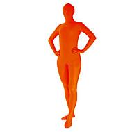 Unicolor Orange Unisex Spandex Zentai Suit