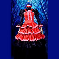 cosplay dräkt inspirerad av Shakugan ingen Shana micky stil lolita klänning