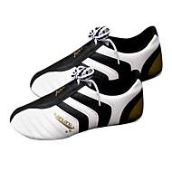 Unisex White PU and Natural Rubber Taekwondo Practise Shoes (Assorted Sizes)